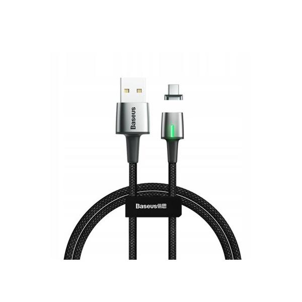 Zinc Magnetic USB Data Cable Baseus for Type-C 3A - 100CM - Black