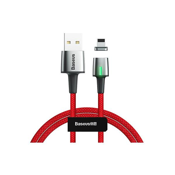 Zinc Magnetic Lightning Data Cable USB Baseus 2.4A - 100CM - Red