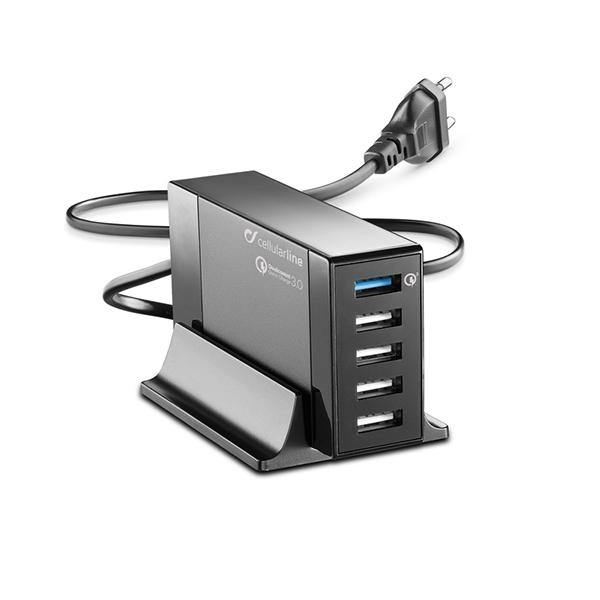 Energy station Q3 50W / 5USB - Home Charger - Black