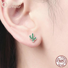 Load image into Gallery viewer, 925 Sterling Silver Dazzling Cactus Green