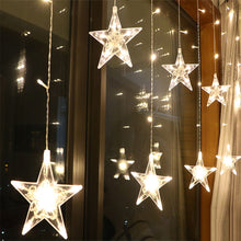 Load image into Gallery viewer, 2.5M LED Christmas Garland Star Curtain Lights