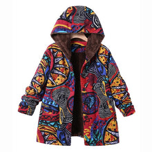 Load image into Gallery viewer, Estylo Retro Hooded Warm Jacket