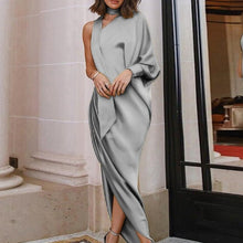 Load image into Gallery viewer, Elegant Evening Party Pleated Slim Split Maxi Dresses