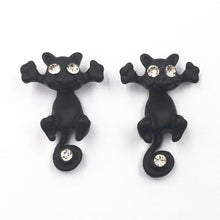 Load image into Gallery viewer, 1 Pair Cute Cat Stud Earrings