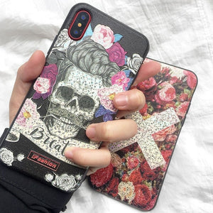 3D Relief Laser Bling Phone Cases