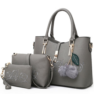 3pcs Leather Handbags
