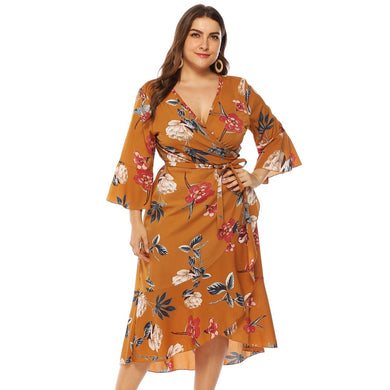 Summer Butterfly Sleeve Floral Dress