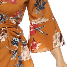 Load image into Gallery viewer, Summer Butterfly Sleeve Floral Dress