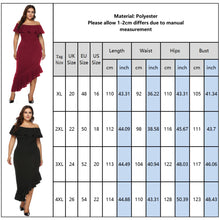 Load image into Gallery viewer, Slim fit Plus Size Stunning Off Shoulder Wrap Dress - Amy's Design