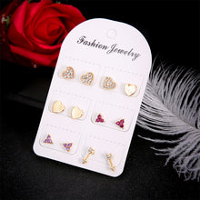 Load image into Gallery viewer, 6 Pairs / Set  Classic Crystal Earrings Set
