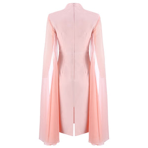 Women's Stylish Cloak Sleeve Dress Party Dress