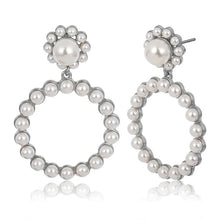 Load image into Gallery viewer, Trendy Crystal Round Drop Earrings