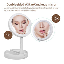 Load image into Gallery viewer, LED Makeup rechargeable Mirror