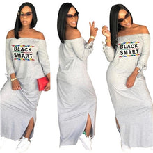 Load image into Gallery viewer, Letter Print Maxi Dress
