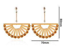 Load image into Gallery viewer, Boho Wood Drop Earrings