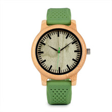 Load image into Gallery viewer, High Quality Silicone Strap Green Wooden Watch