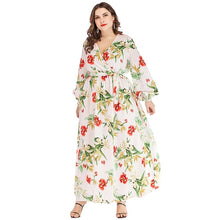 Load image into Gallery viewer, Trendy Boho Lantern Sleeve Floral Print Maxi