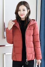 Load image into Gallery viewer, New Fashion Cotton Hooded Parkas Jacket
