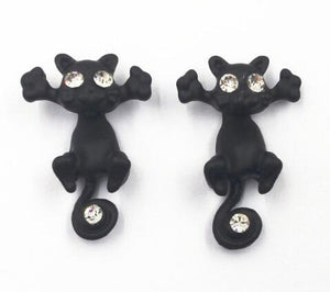 1 Pair Cute Cat Stud Earrings