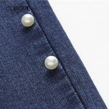 Load image into Gallery viewer, Slimfit Denim Pearl Beads Stretchy Jeans