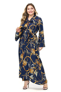 Estylo Classic Print Slim Fit Dress