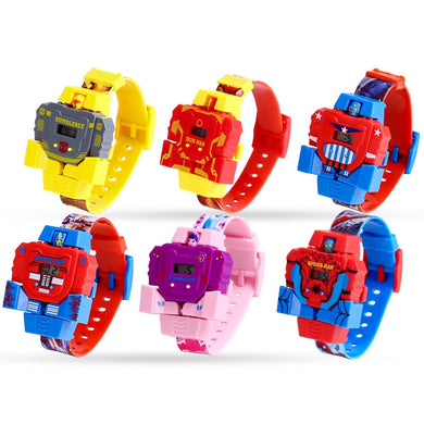 Spiderman Deformation Robot Watch