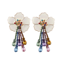 Load image into Gallery viewer, Floral Crystal Boho Earrings