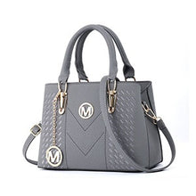 Load image into Gallery viewer, PU Leather Diagonal Embroidery Handbag