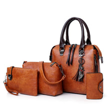 Load image into Gallery viewer, 4pc/Set Leather Handbag On Clearance