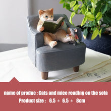 Load image into Gallery viewer, Cute Cartoon Cat & Mouse  Figurine Miniature