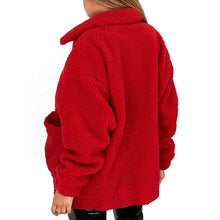 Load image into Gallery viewer, Estylo Zipper Plush Winter Autumn Coat