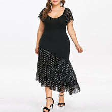Load image into Gallery viewer, Asymmetric Chiffon Elegant New Style Polka Dotts Dress
