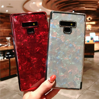 Samsung New Marble Plating Glitter Case (High Quality)