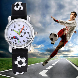 3D Cartoon Football Waterproof Watch