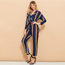 Load image into Gallery viewer, Classy Stripe Print Jumpsuit 2019