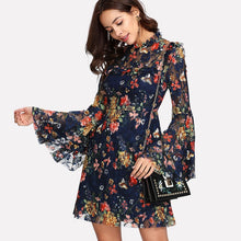 Load image into Gallery viewer, Calico Print Flower Dress