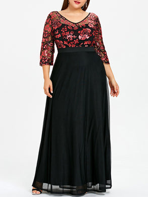 Estylo-Sequined Floral New Style Maxi