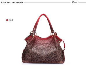 Ombre Floral Print Shoulder Bag