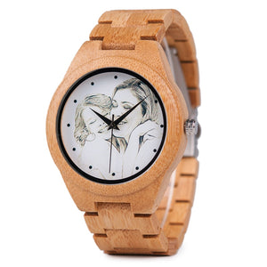 Customized Photo UV Printing Wood Watch