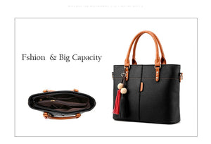 Large Capacity Stylish Leather Bag
