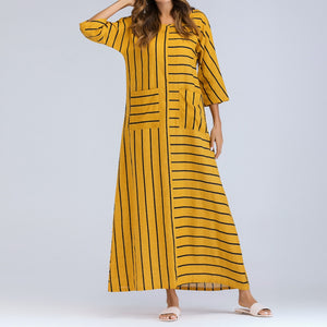 Casual Striped Cotton