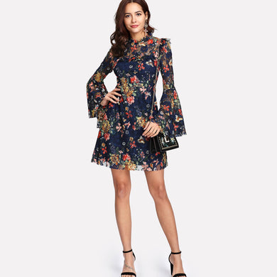 Calico Print Flower Dress