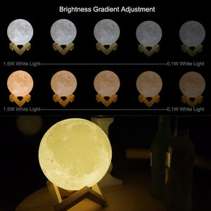 3D Printing USB Moon Light Touch Control