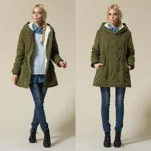 Load image into Gallery viewer, Estylo- Hot Sale Winter Cotton Padded Cashmere Coat