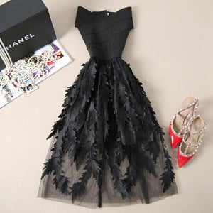 Elegant Lace Patchwork Dress