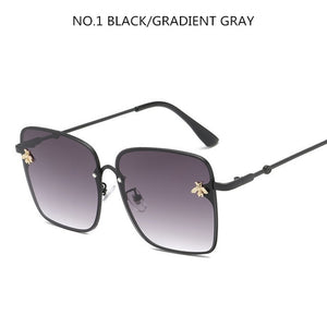 Luxury Retro Square Bee UV Sunglasses