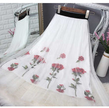Load image into Gallery viewer, Vintage Floral Mesh Skirt