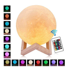 Load image into Gallery viewer, 3D Printing USB Moon Light Touch Control