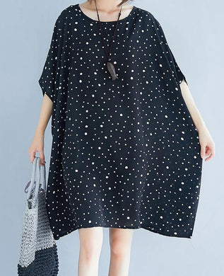 Russian Style Chiffon Slim Fit Polka Dot Top