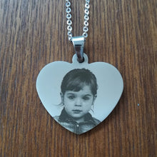 Load image into Gallery viewer, Personalized Name Photo Heart Pendant